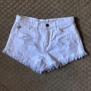 Sneak Peek Destroyed Jean Shorts - size S